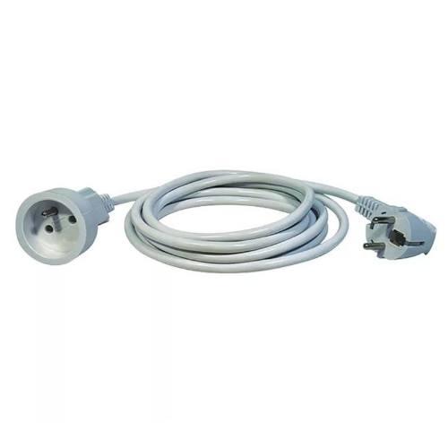 Kábel predlžovací, 1,5m / 250V, biela
