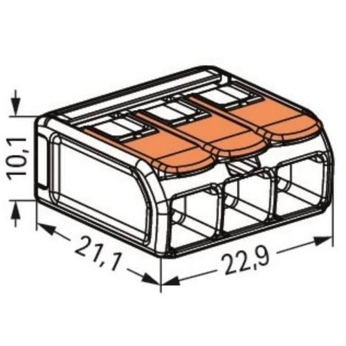 Svorka WAGO 221-613, 3 pólová