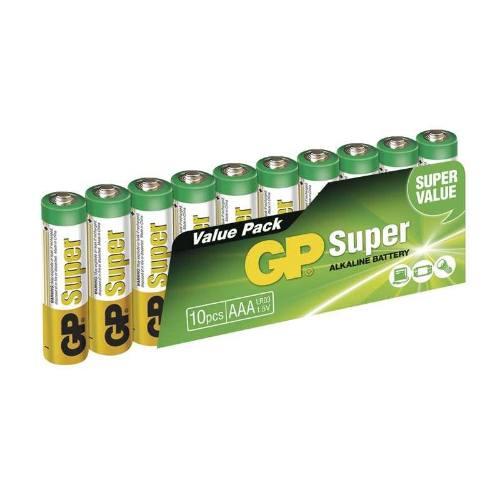 Batérie GP 24A SUPER LR03 10SH, fólie