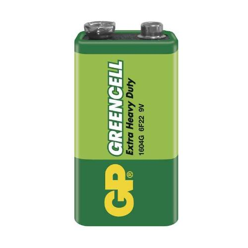 Batéria GP GREENCELL 9V 6F22 1SH, fólie