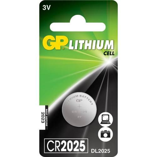 Batérie GP CR2025, lítiová, 5BL, blister