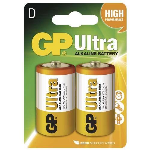 Batéria GP 13AU LR20 D, 2BL blister