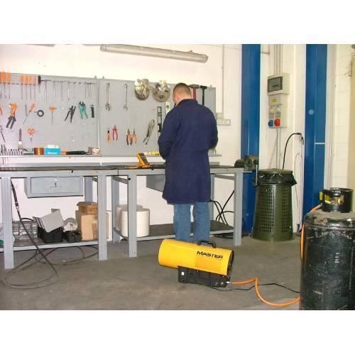 Ohrievač plynové s ventilátorom BLP 17M, 10-16 kW, MASTER