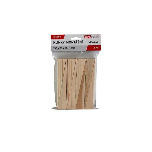 Klinky montážne drevené, 100 x 25 x 16 - 1 mm, 14 ks, ENPRO