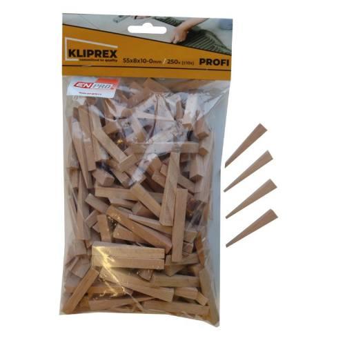 Klinky obkladačské drevené, 55 x 8 x 10 - 0 mm, 250 ks, ENPRO