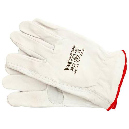 Rukavice VM celokožené, zdvojená dlaň, veľkosť 10,5-3030