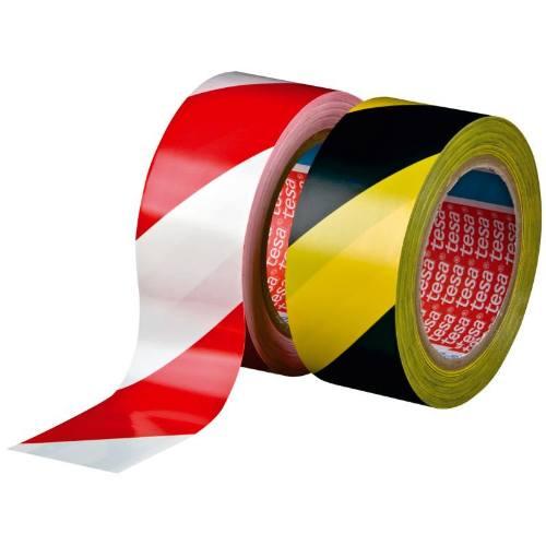 Páska výstražná samolepiaca PVC, 60760, 33 mx 50 mm, čierno-žltá
