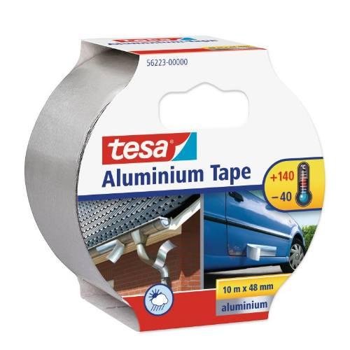 Páska hliníková 50μ bez krycieho papiera 56223, 10 mx 48 mm, strieborná