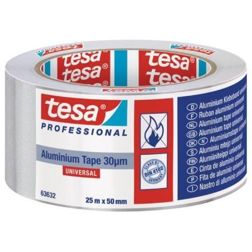 Páska hliníková s linerom 30 μ 63632, 25 mx 50 mm, TESA