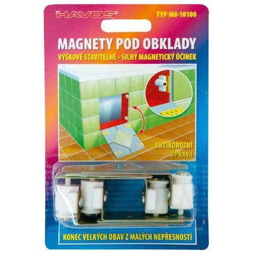Magnety pod obklady nastaviteľné, 4 ks
