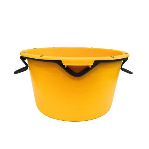 Nádoba plastová kruhová s kovovými úchytkami, 90 l, žltá, Gripline ENPRO