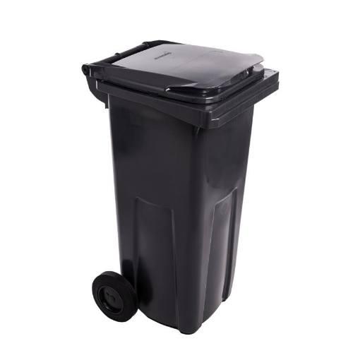 Popolnice plastová, 120 l, čierna
