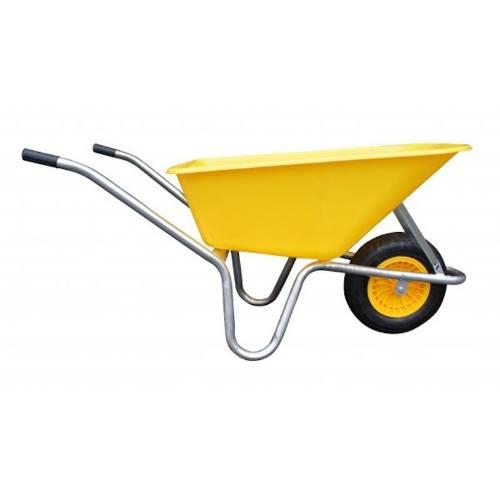 Koliesko záhradné LIVEX, 100 l, pozinkovaný rám, žlté