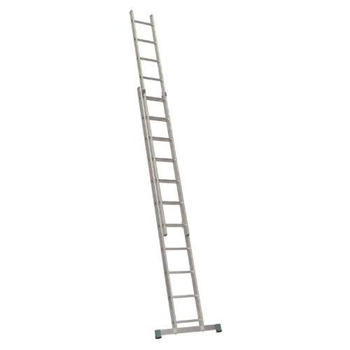 Rebrík Al, 2 x 13 priečok, 3,70 m, 6,24 m, výsuvný, ALVE 7213