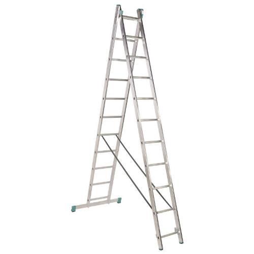 Rebrík Al, 2 x 14 priečok, 4,00 m, 6,83 m, univerzálne, ALVE 7514