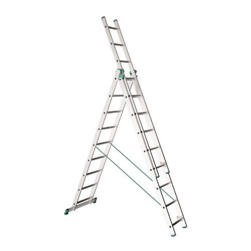 Rebrík Al, 3 x 10 priečok, 2,86 m, 6,26 m, 4,35 m, ALVE 7610