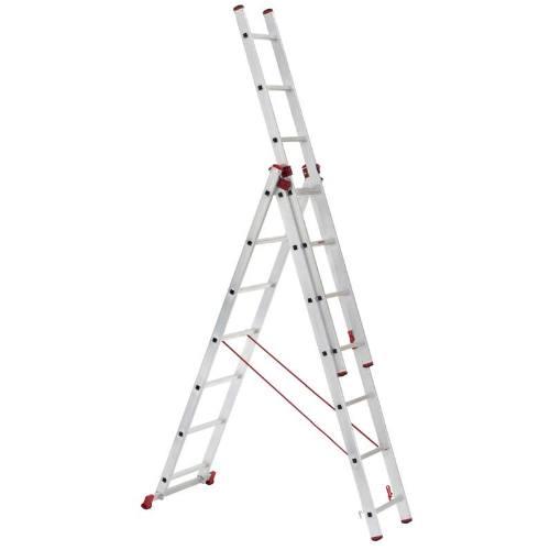 Rebrík Al, 3 x 10 priečok, 2,86 - 6,26 m univerzálny, ALVE ENPRO 6610