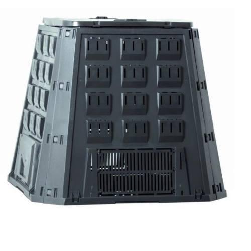 Kompostér, 420 l, 885 x 888 x 800 mm, čierny