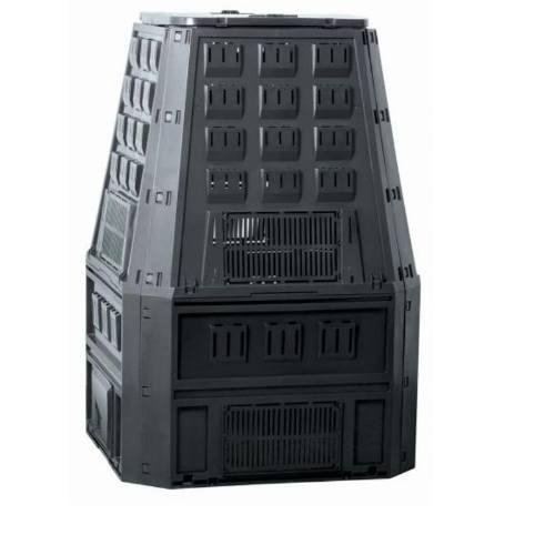 Kompostér, 850 l, 900 x 910 x 1345 mm, čierny