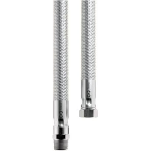 Hadica nerez s otočnou koncovkou - plyn, 500 mm, R1 / 2 (T) -G1 / 2