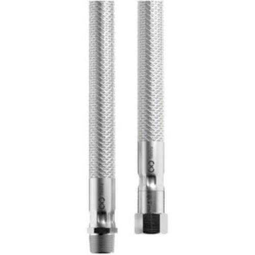 Hadica nerez s otočnou koncovkou - plyn, 2000 mm, Rp1 / 2 (T) -R1 / 2