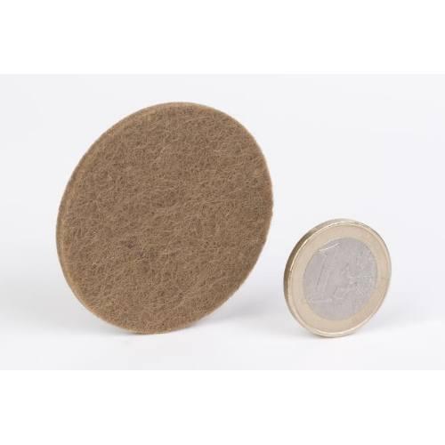 Podložky filcové Ø 45 mm, samolepiace, hnedé, 10 ks