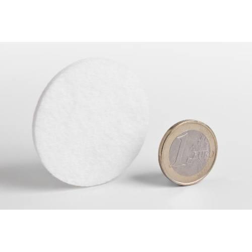 Podložky filcové Ø 45 mm, samolepiace, biele, 10 ks