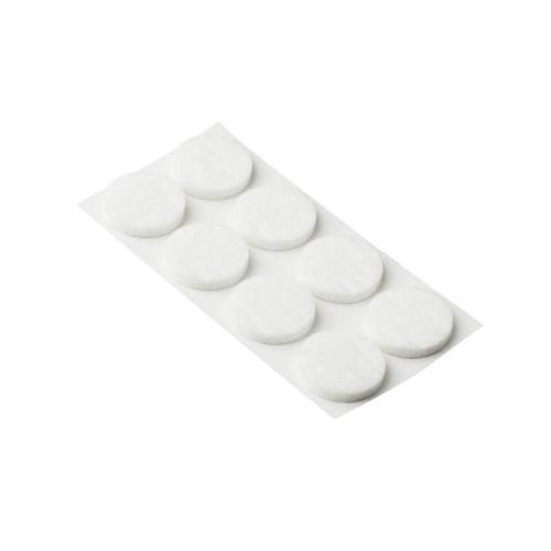 Podložky filcové Ø 20 mm, samolepiace, biele, 32 ks