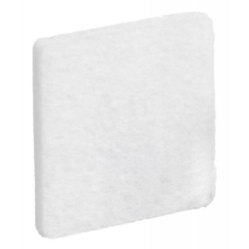 Podložky filcové 25 x 25 mm, samolepiace, biele, 32 ks