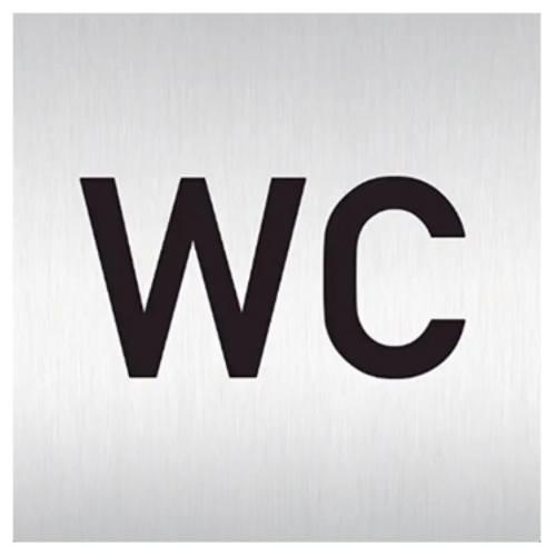 "Znak rozlišovaciu ""WC"", 60 x 60 mm, samolepiace, nerez"