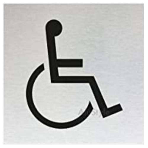 "Znak rozlišovaciu ""WC-invalidi"", 60 x 60 mm, samolepiace, nerez"