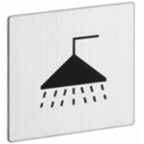 """Znak rozlišovaciu """"Kúpeľňa"""", 60 x 60 mm, samolepiace, nerez"""