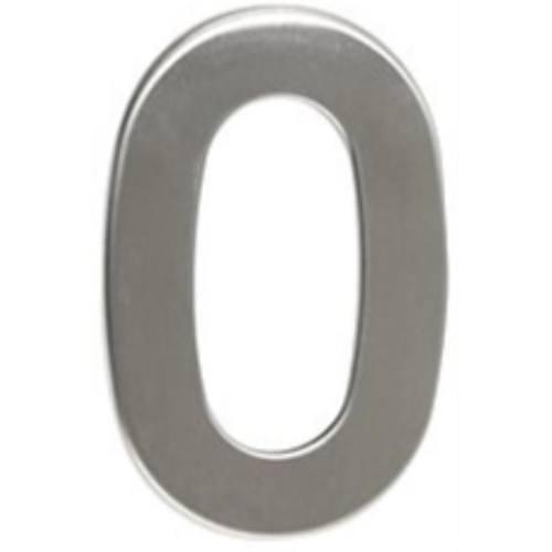 """Číslo """"0"""", 50 mm, samolepiace, nerez"""