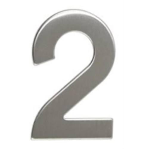 """Číslo """"2"""", 50 mm, samolepiace, nerez"""