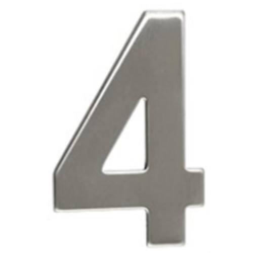 """Číslo """"4"""", 50 mm, samolepiace, nerez"""