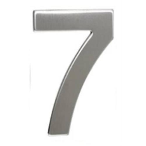 """Číslo """"7"""", 50 mm, samolepiace, nerez"""