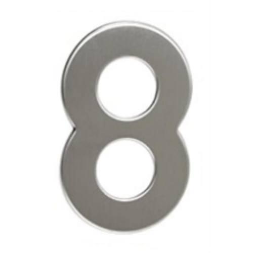 """Číslo """"8"""", 50 mm, samolepiace, nerez"""