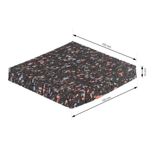 Podložka antivibračné, 100 x 100 mm, 4 ks