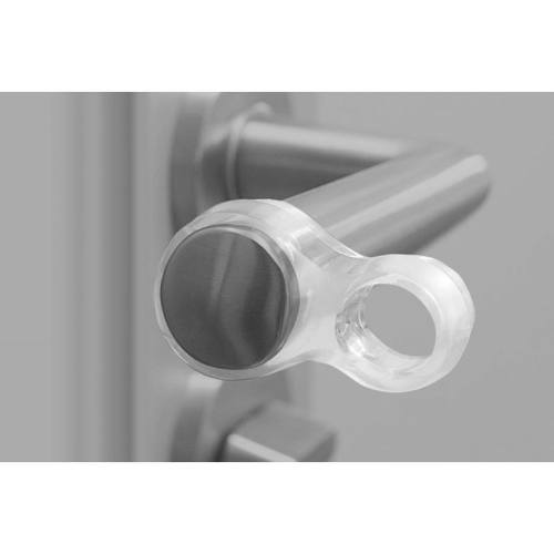 Zarážka dverné na kľučku, dvojitá, plast, transparentná