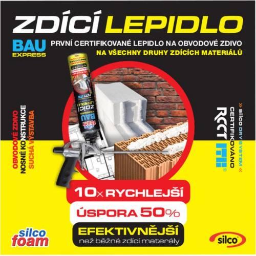 Lepidlo murovacie BAU EXPRESS, 875 ml, SILCOFOAM