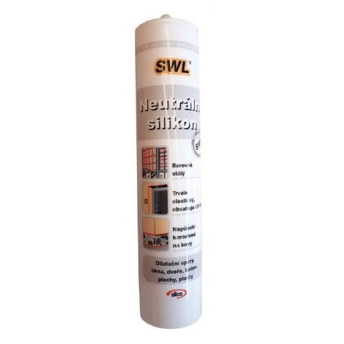 Silikón neutrálny jednozložkový, 310 ml, biely, SILC