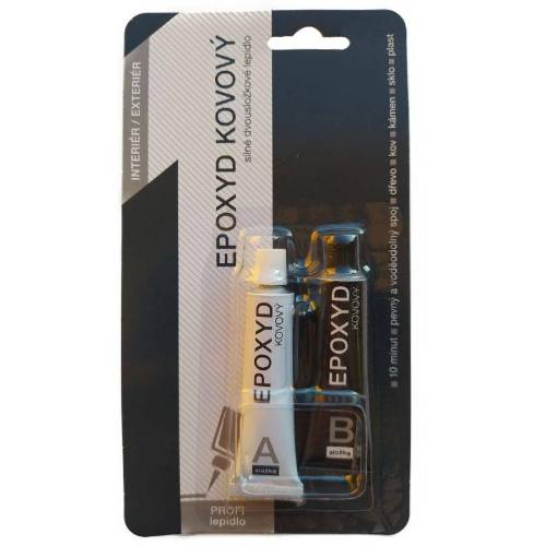 Epoxyd kovový dvojzložkový Cartell, 2 x 12 g