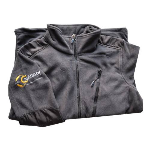Mikina fleecová 4TECH, veľkosť L, šedá s logom