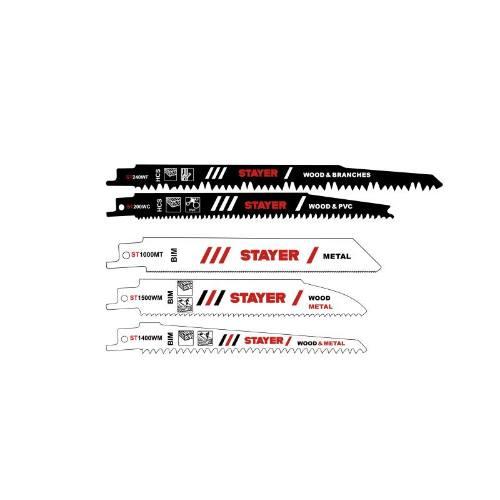 List pílový na drevo HCS a kov BIM k SS 210 / SS 280 P / SS L20 - 5 ks, STAYER