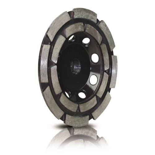 Kotúč diamantový brúsny dvojradový, Ø 100 mm, M14, segment, letovanie striebrom, STAYER