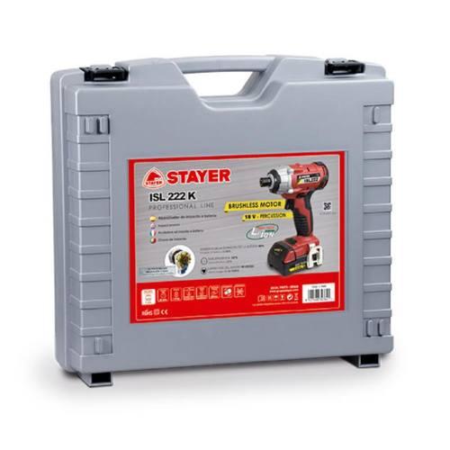 Uťahovák rázový aku ISL 224 K, 18V, 4Ah, 2 batérie Li-ion, kufor, STAYER