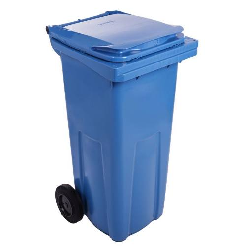 Popolnice plastová, 120 l, modrá