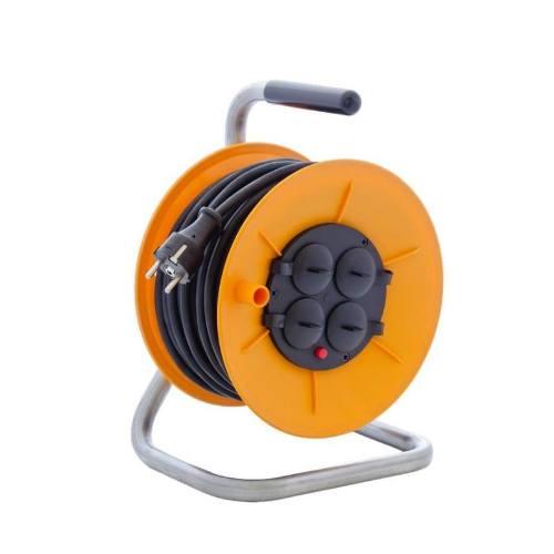 Kábel predlžovací HOBBY PKB230Z, 25m / 230V, cievka, 4 zásuvky