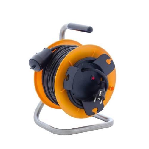 Kábel predlžovací HOBBY PKB230S, 25m / 230V, cievka, 1 zásuvka