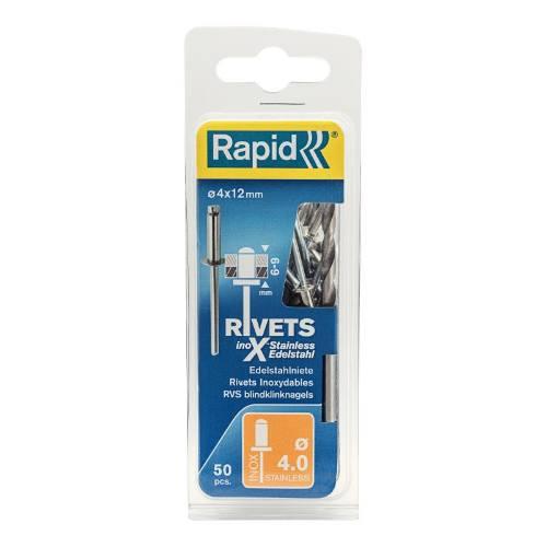 Nity nerezové INOX, 3,2 x 8 mm, 50 ks, blister, RAPID